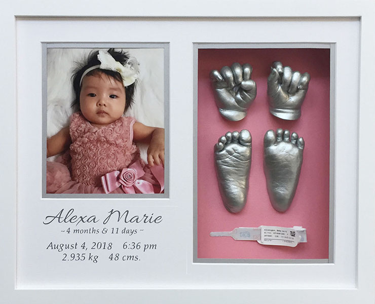 Baby Alexa Memory Castings Classic Shadowbox Gift Package